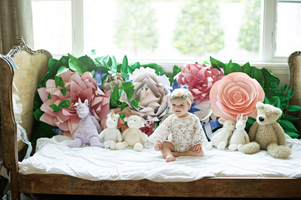 Birthday Session Paper Flower Backdrop
