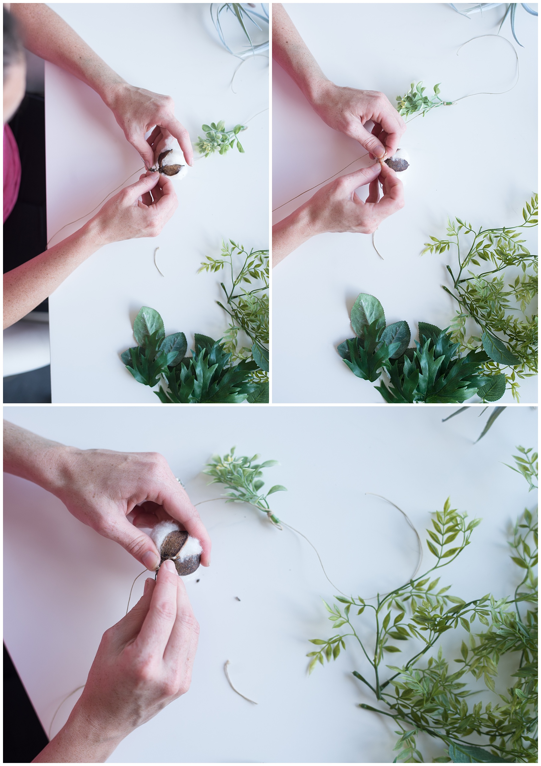 how to make a hanging flower branch