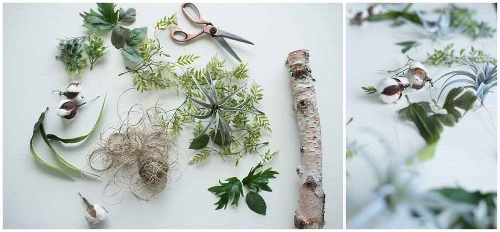 DIY Hanging Flower Branch how-to