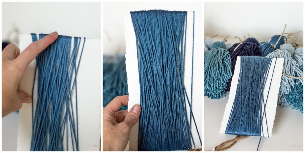 blue yarn for tassels