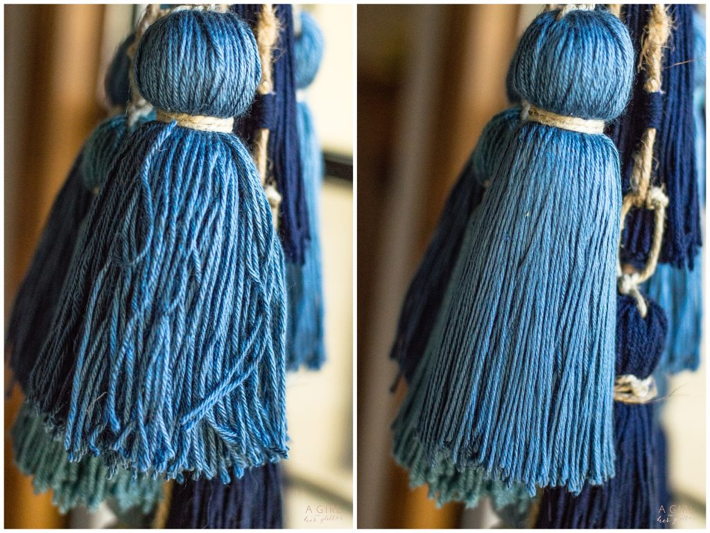 steamed yarn tassel