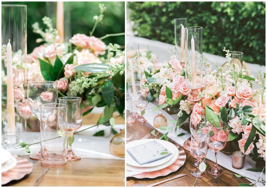 Wedding pink glasses