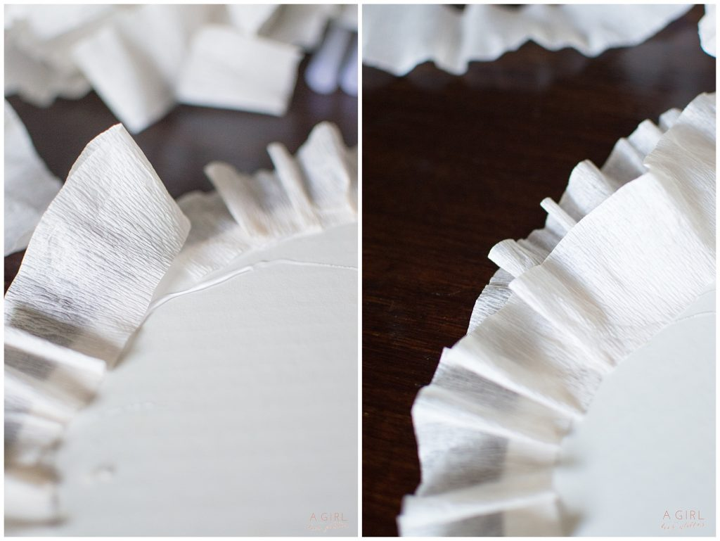 charger plates with ruffles