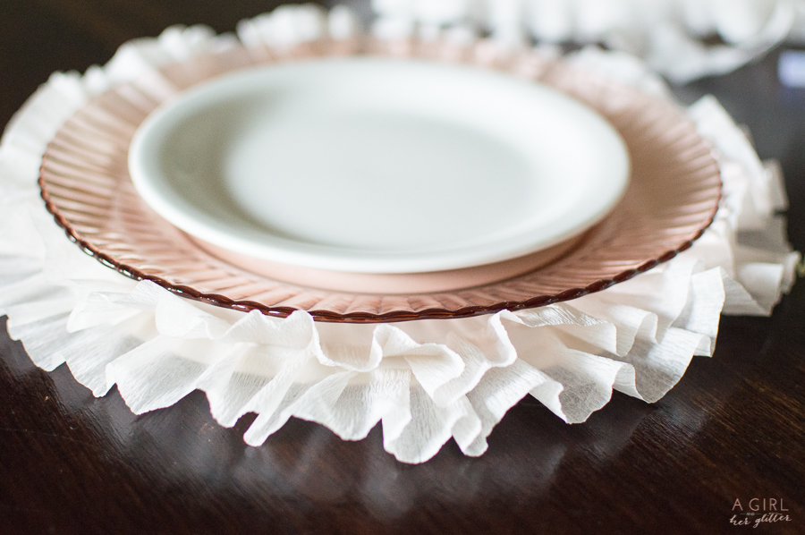 Crepe Paper Charger Plate