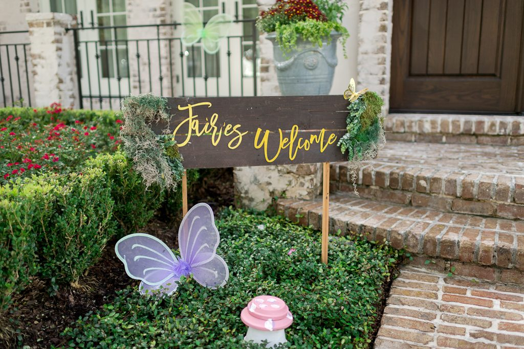 Fairy Party Sign