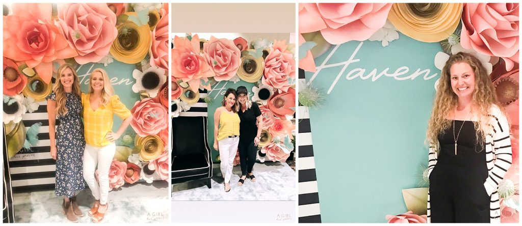 Paper Flower Backdrop for Haven