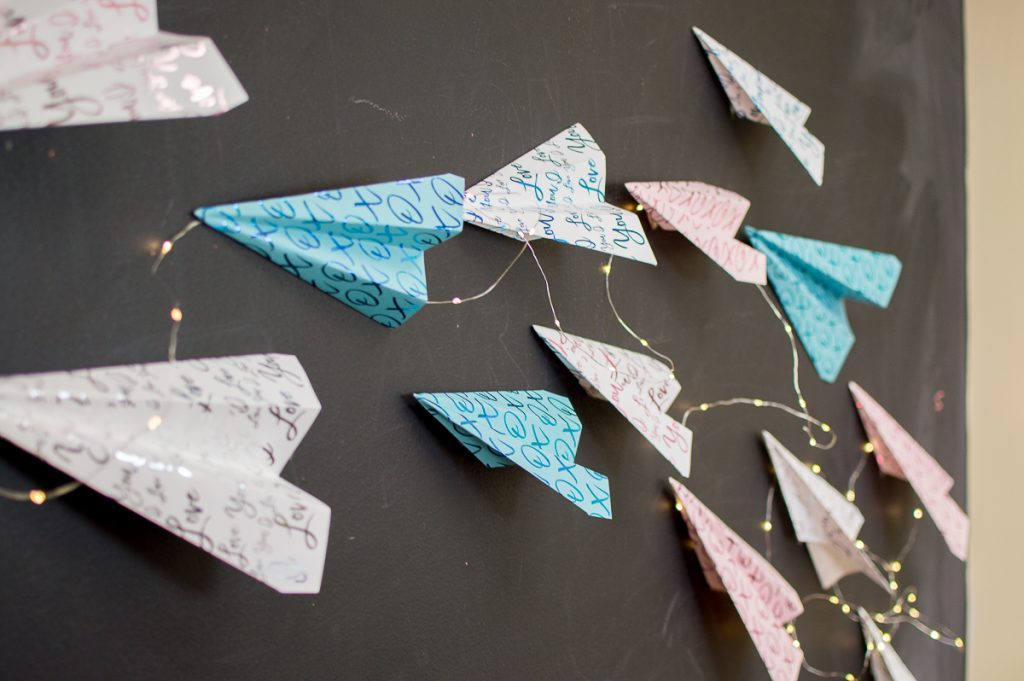 Xyron Glaminator Paper Airplane backdrop