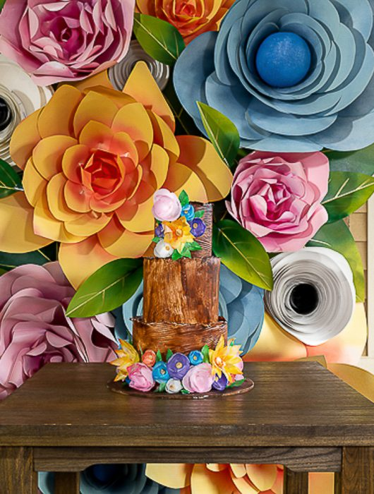 wedding paper flower backdrop