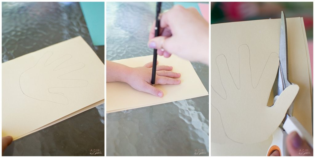 DIY hand print card for mother's day