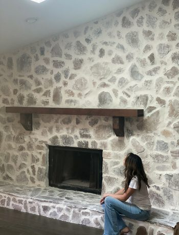 Stone Fireplace DIY