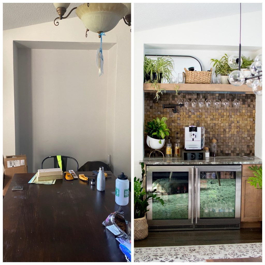 Before and After Beverage Station